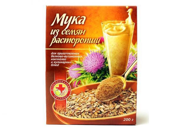 мука из семян расторопши применяется в качестве здорового питания