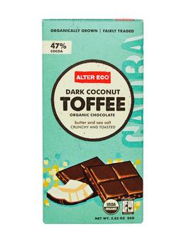 темный шоколад с темными кокосовыми ирисками