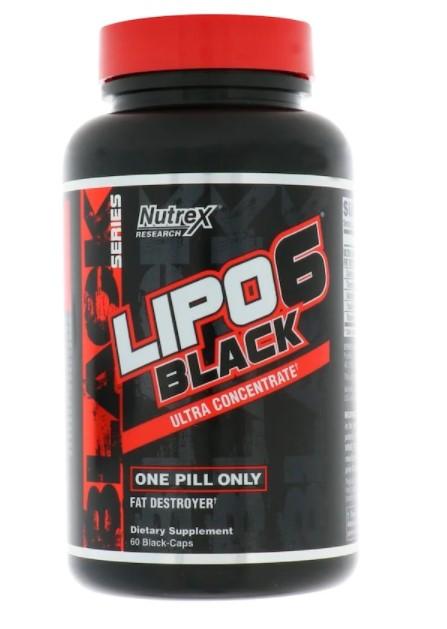 Nutrex Research, LIPO-6 Black, ультраконцентрат, 60 черных капсул