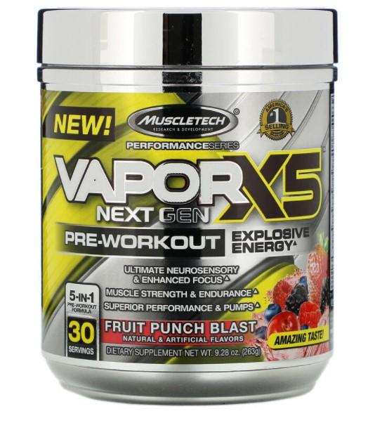 Muscletech, VaporX5, Next Gen, предтренировочная добавка, фрукты, 263 г (9,28 унции)
