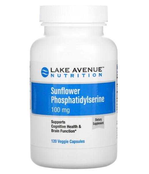 Lake Avenue Nutrition, фосфатидилсерин подсолнечника, 100 мг, 120 растительных капсул