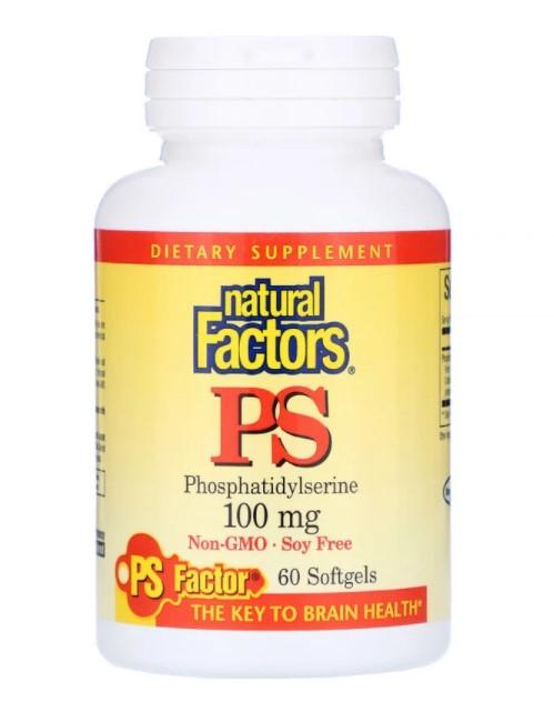 Natural Factors, ФС (фосфатидилсерин), 100 мг, 60 мягких таблеток