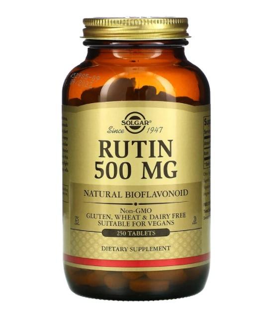 Solgar, рутин, 500 мг, 250 таблеток
