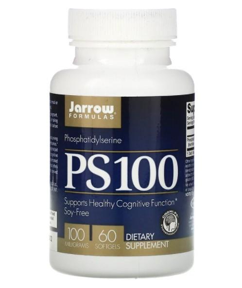 Jarrow Formulas, PS 100, Фосфатидилсерин, 100 мг, 60 гелевых капсул