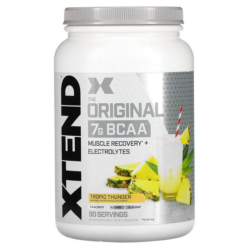 Xtend, The Original, 7 г аминокислот с разветвленной цепью (BCAA), со вкусом тропических фруктов, 1,26 кг (2,78 фунта)