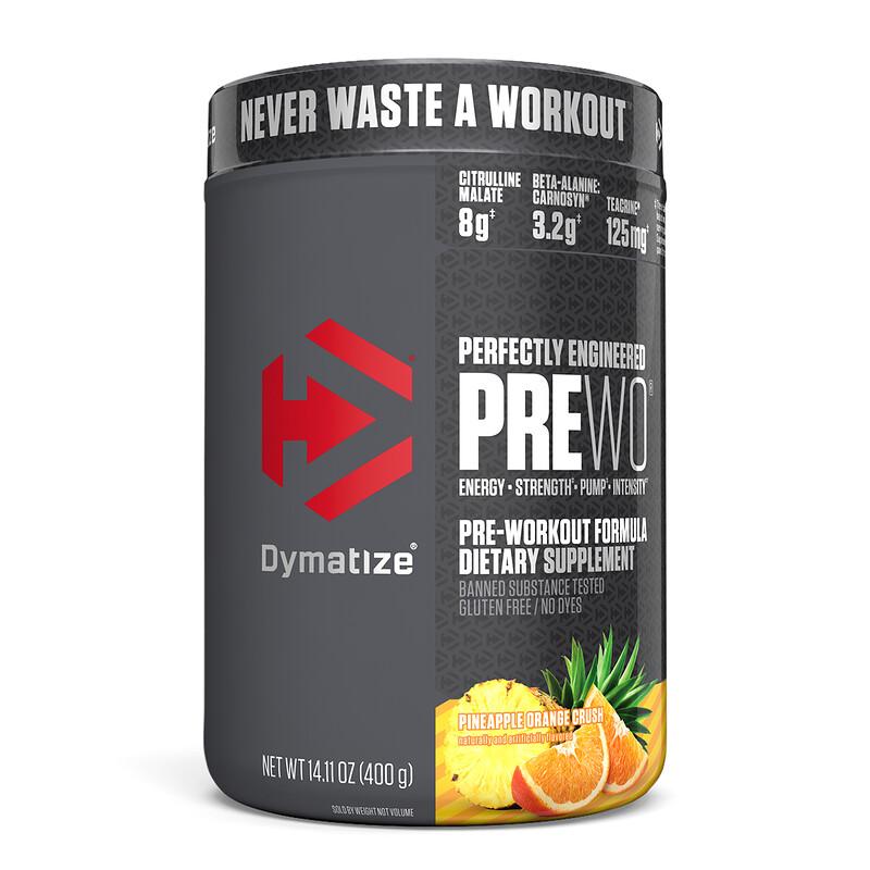 Dymatize Nutrition, Perfectly Engineered Pre WO, предтренировочная добавка, ананас и апельсин, 400 г (14,11 унции)