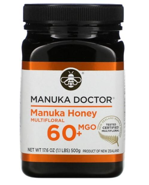 Manuka Doctor, мед манука из разнотравья, MGO 60+, 500 г (17,6 унции)