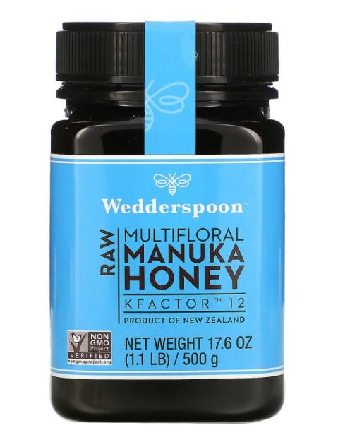Wedderspoon, Raw Multifloral Manuka Honey, KFactor 12, 1.1 lb (500 g)
