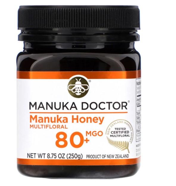 Manuka Doctor, Мед манука из разнотравья, MGO 80+, 250 г (8,75 унции)