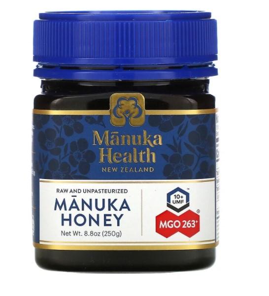 Manuka Health, Мед манука, MGO 250+, 250 г (8,8 унции)