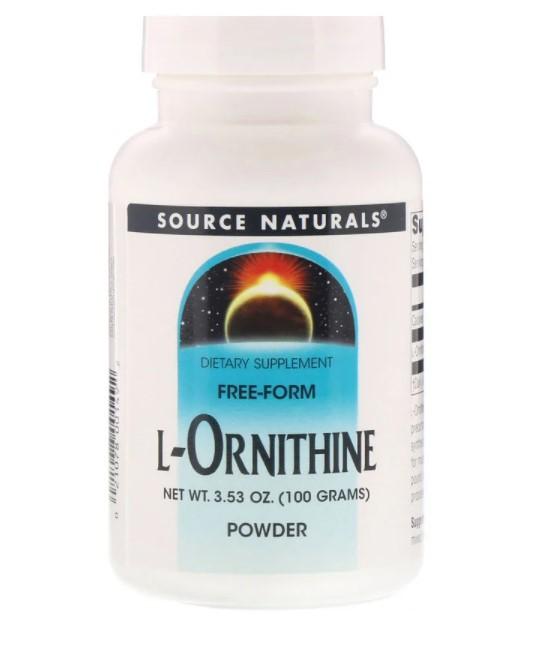 Source Naturals, L-орнитин в виде порошка, 100 г (3,53 унции)