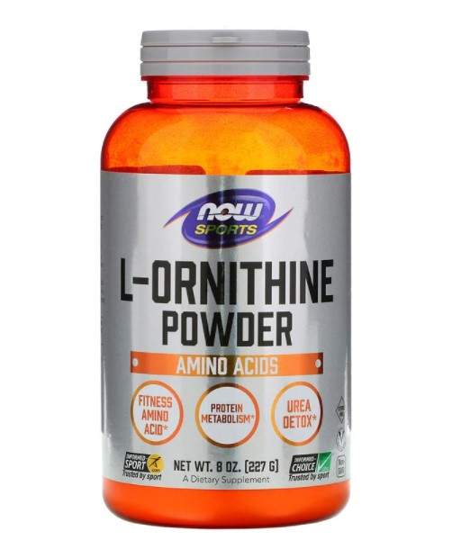 Now Foods, L-орнитин в виде порошка, 227 г (8 унций)