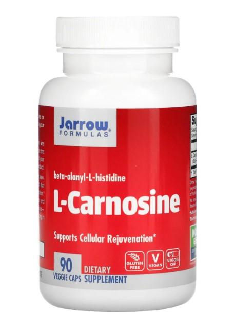 Jarrow Formulas, L-карнозин, 90 растительных капсул
