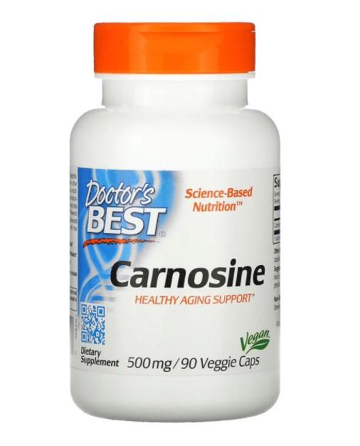 Doctor's Best, карнозин, 500 мг, 90 вегетарианских капсул