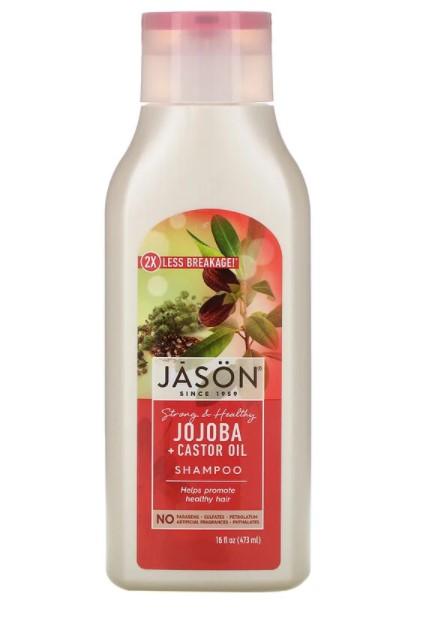 Jason Natural, шампунь для силы и здоровья волос, с маслом жожоба и касторовым маслом, 473 мл (16 жидк. унций)