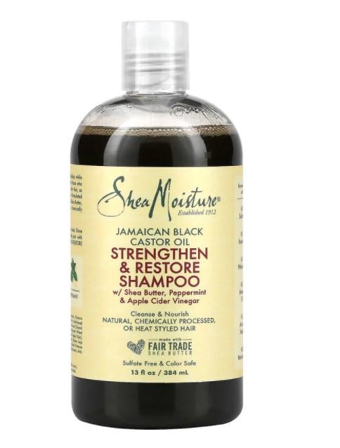 SheaMoisture, ямайское черное касторовое масло, укрепляющий и восстанавливающий шампунь, 384 мл (13 жидк. унций)