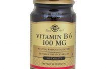 Витамин В6 от компании Солгар: описание БАДа и особенности применения